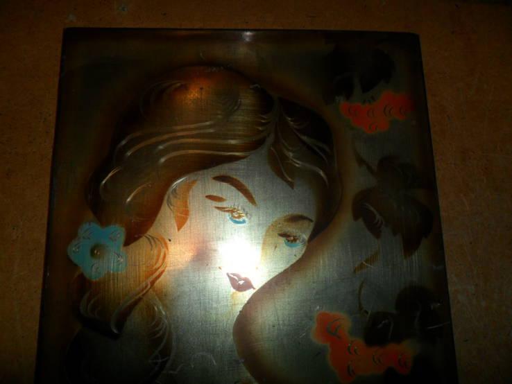 Картина на металле Девушка СССР, фото №3
