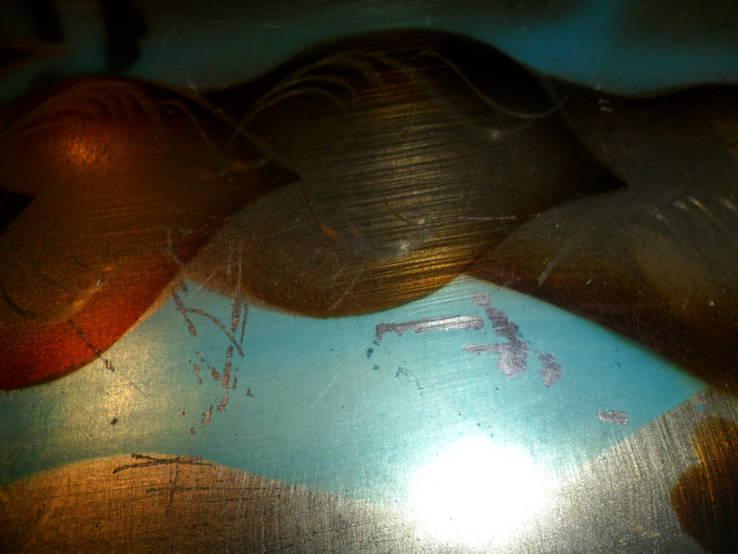 Картина на металле Девушка СССР, фото №6