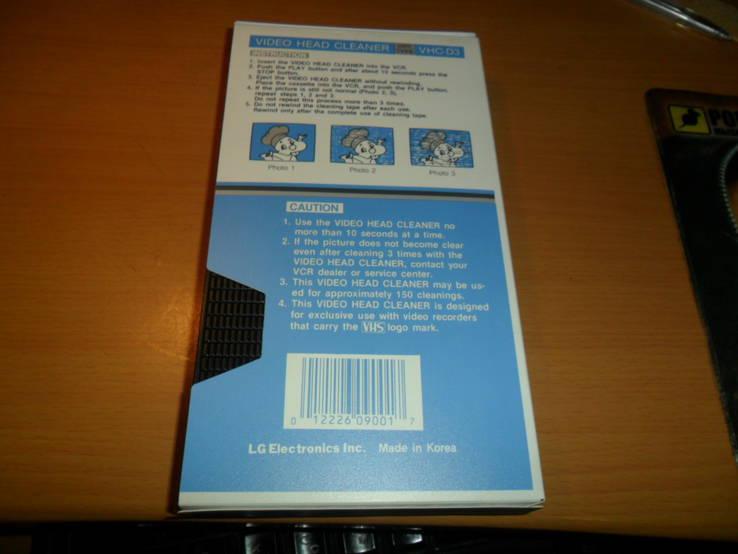Видеокассета чистящая видео кассета LG VHC-D3, фото №3