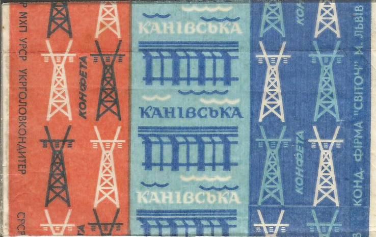 Фантик Каневская 1970-е Свиточ обертка от конфеты