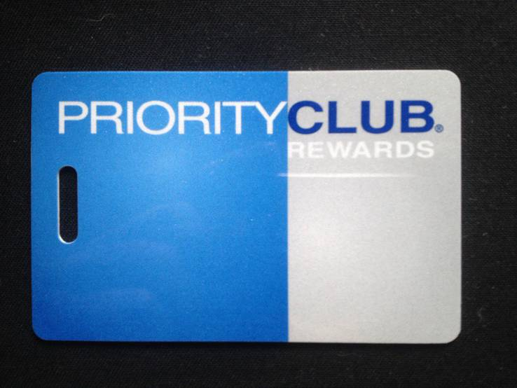"""Гостиничная пластиковая карта """"Priority Club"""", фото №2"""