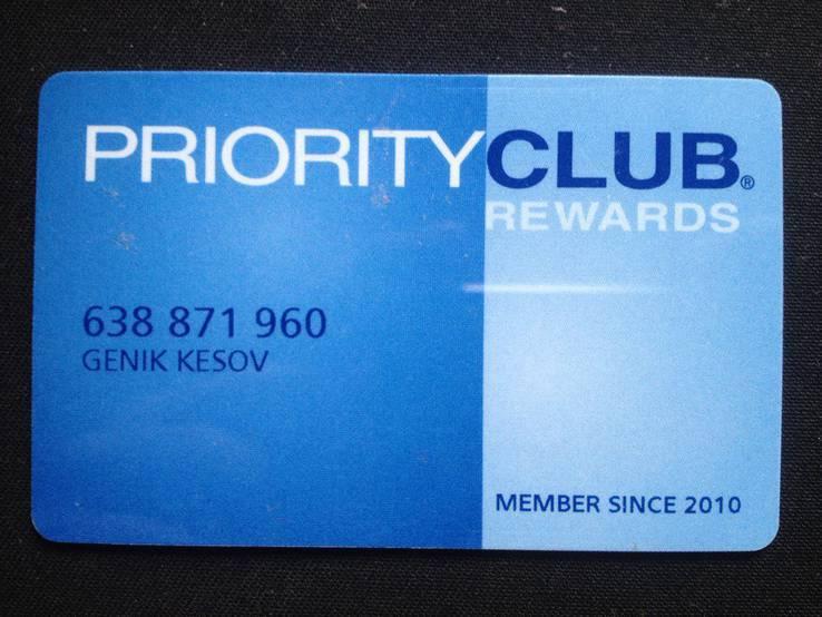 Гостиничная дисконтная карта Priority Club, фото №2