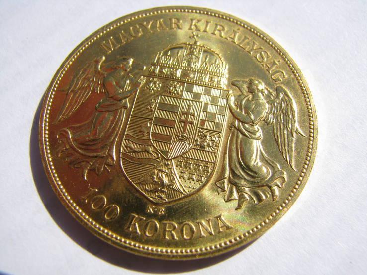 100 крон 1908г Венгрия 33.87г