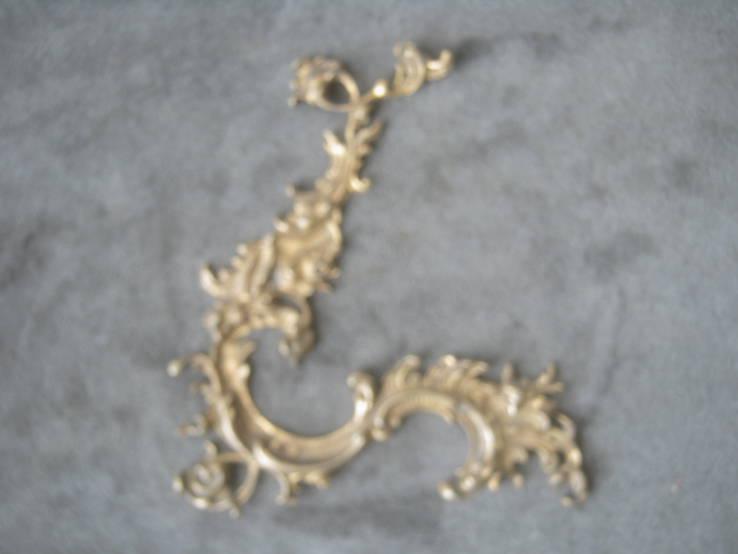 Накладка  рококо,позолота., фото №2