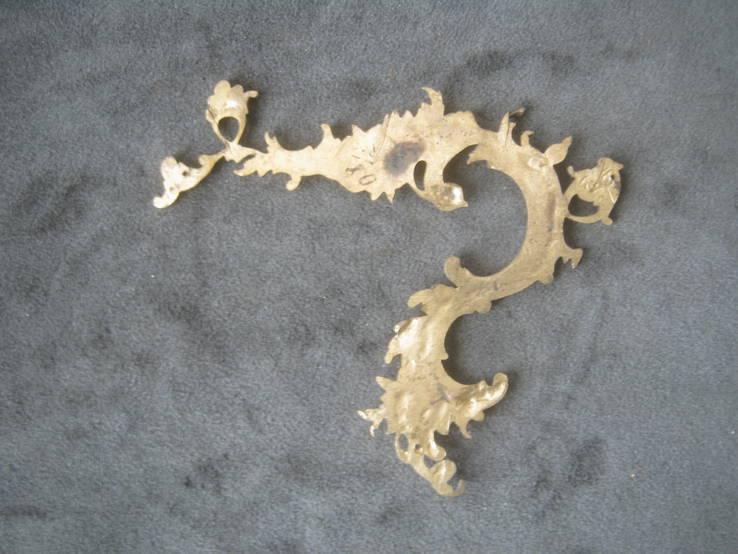 Накладка  рококо,позолота., фото №3