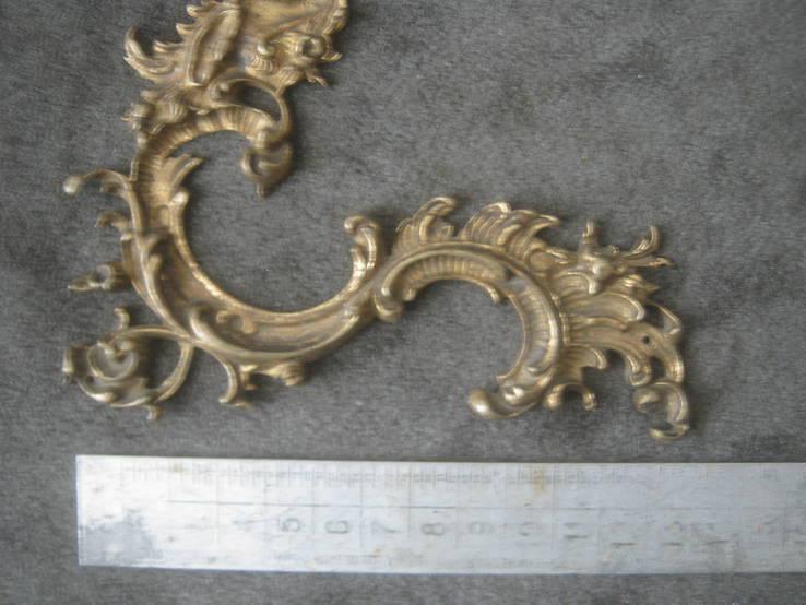Накладка  рококо,позолота., фото №4