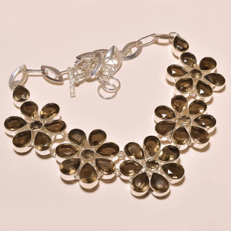 Ожерелье из раухтопазов