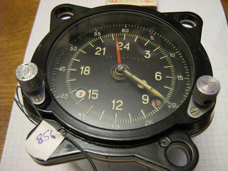 Часы авиационные 55м. 24 часовые.