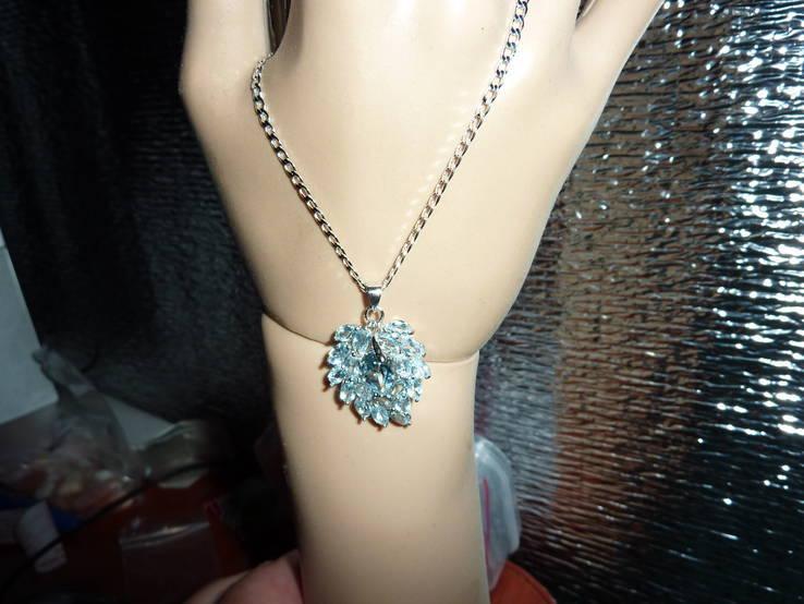Ожерелье с голубыми топазами, фото №2