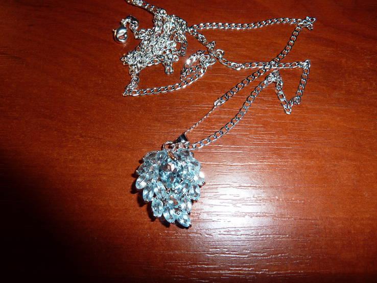 Ожерелье с голубыми топазами, фото №3