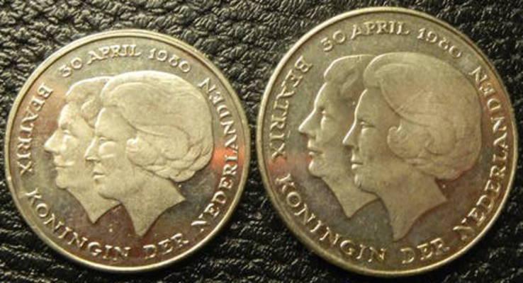 Комплект монет коронування Беатрікс Нідерландів 1980, фото №3