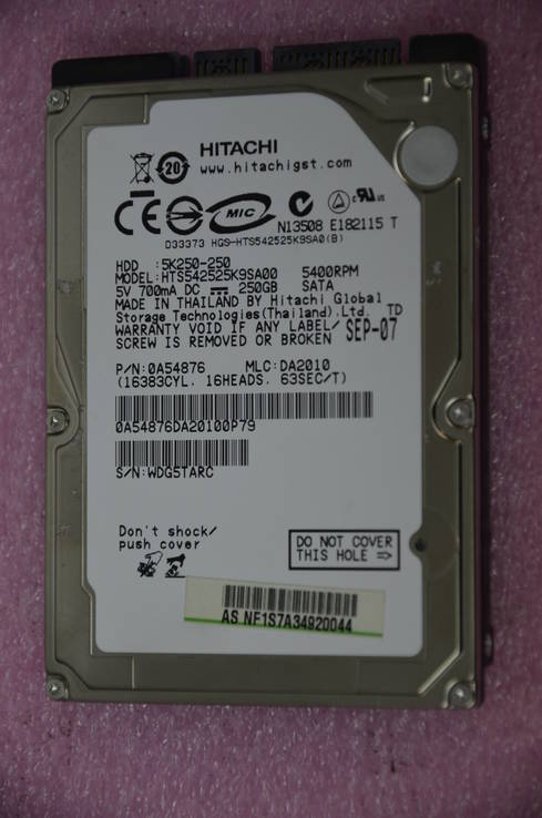 Жесткий диск Hitachi (HGST) Travelstar Z5K320 250GB 5400rpm