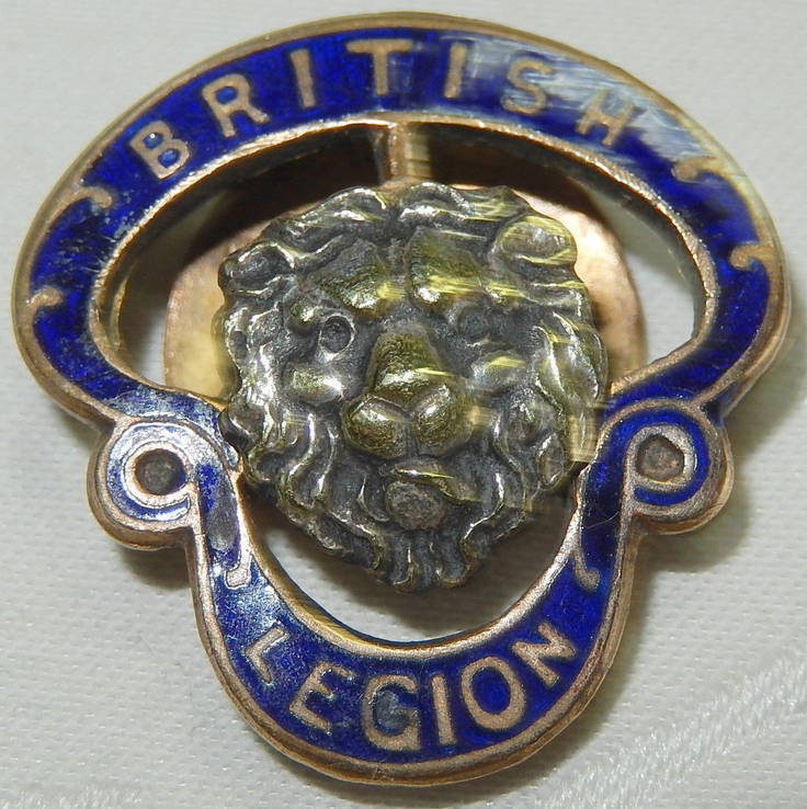 1939-1945 Значок эмаль Военный Королевский Британский Легион № 411783