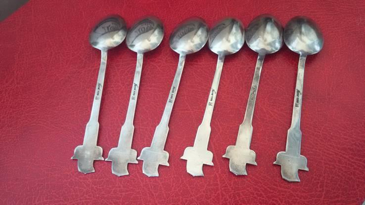 Набор ложечек с эмалями 925 пробы, фото №5