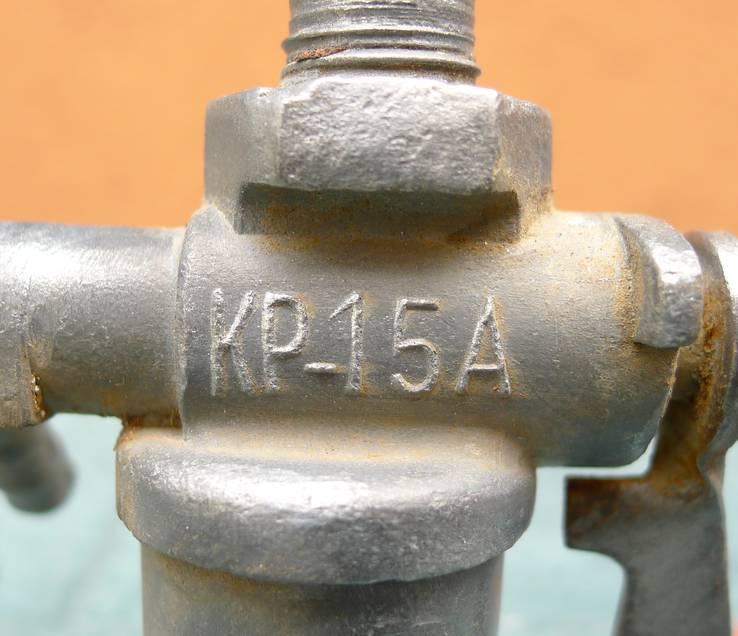 Топливный кран с тяжёлого ретро мото СССР., фото №3