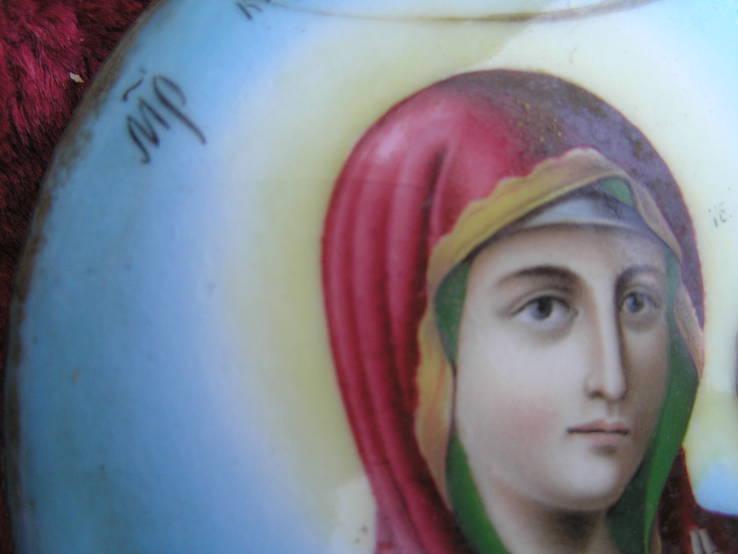 Икона Казанскiя пр.бог. финифть, фото №13