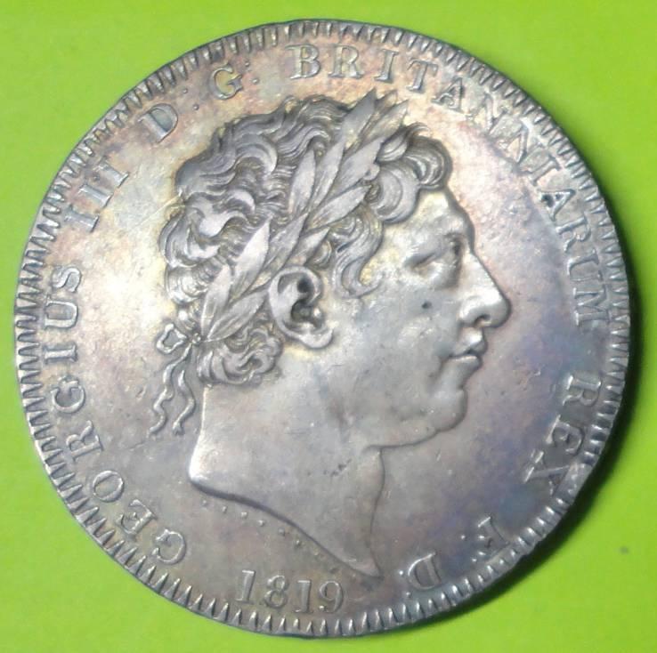 Крона 1819г.LIX Великобритания XF