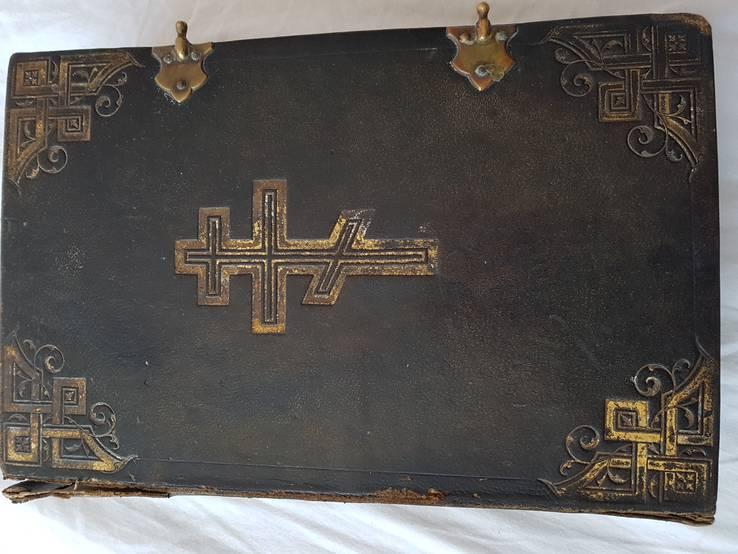 Антикварное большое Евангелие 17 век (Львов) Красивые гравюры