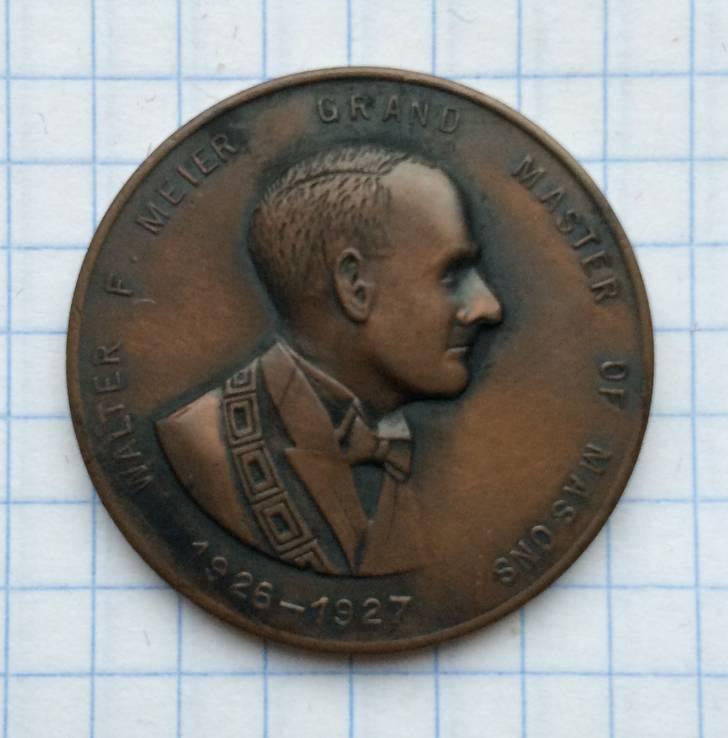 Масонская настольная медаль