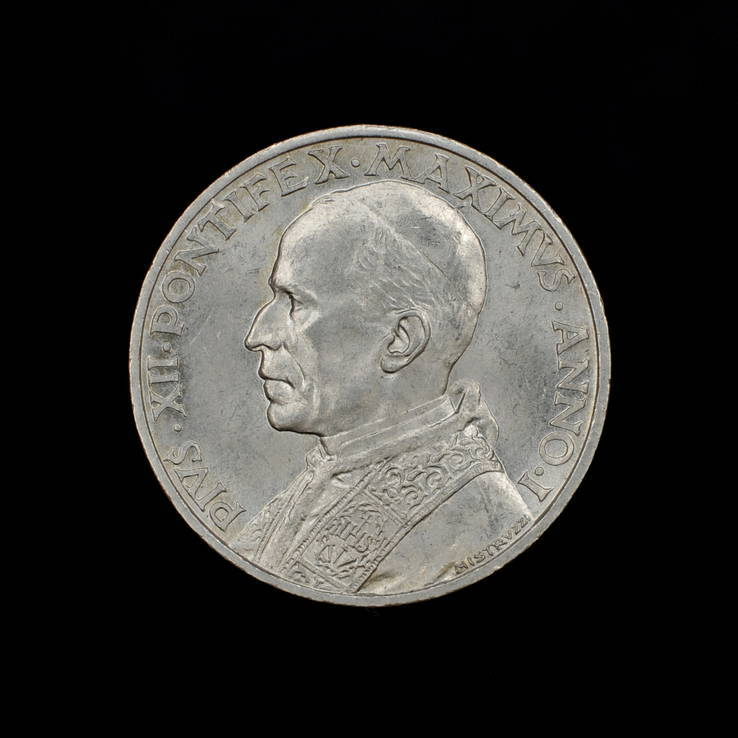 5 Лир 1939 Пий ХIІ, Ватикан