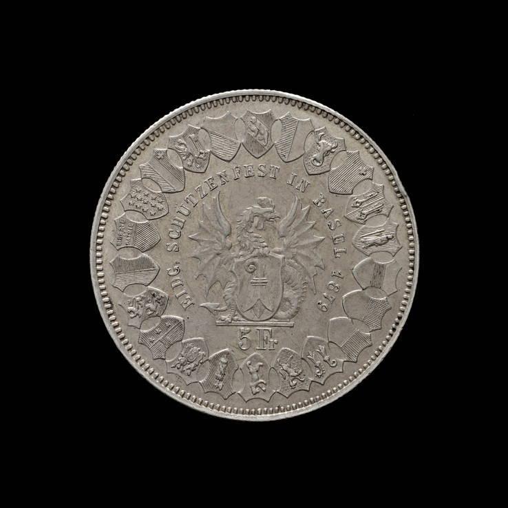 5 Франков 1879 Базель, Швейцария