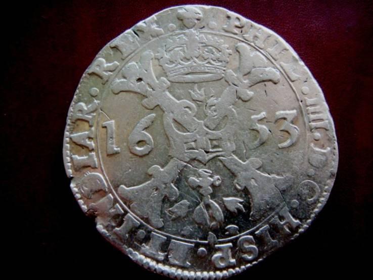 Талер (Патагон) 1653г.Филип IV.Испанские Нидерланды