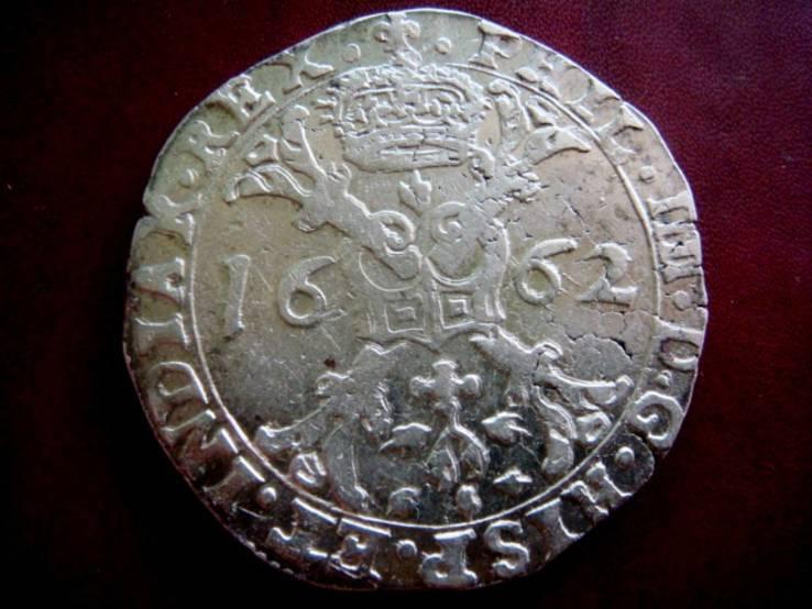 Талер (Патагон) 1662г.Филип IV.Испанские Нидерланды