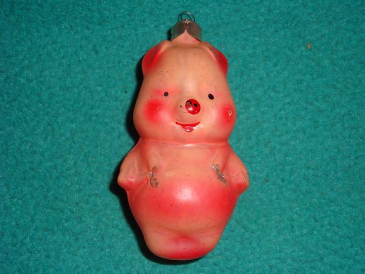 Ёлочная игрушка поросёнок, фото №2