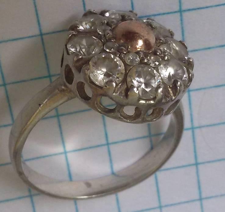 Кольцо с вставками, серебро 925, фото №4