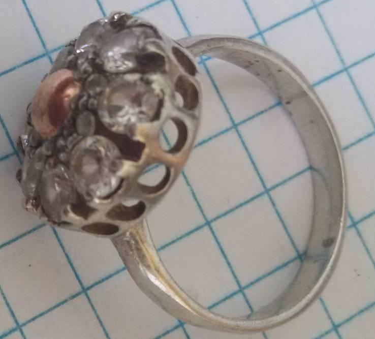 Кольцо с вставками, серебро 925, фото №7