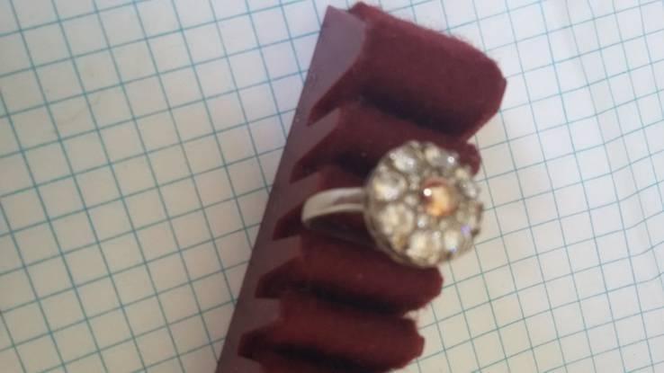 Кольцо с вставками, серебро 925, фото №9