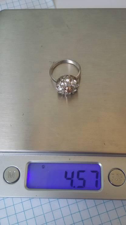 Кольцо с вставками, серебро 925, фото №11