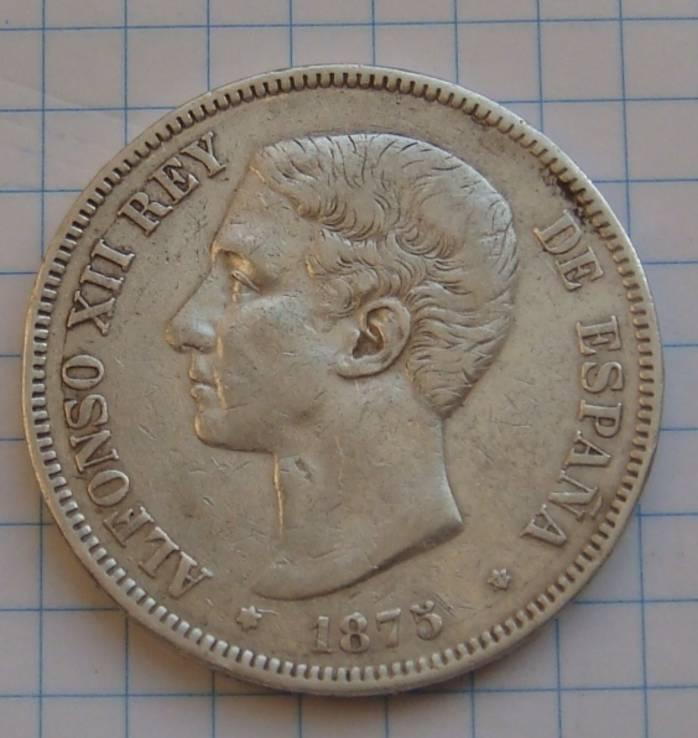 5 песет 1875 г