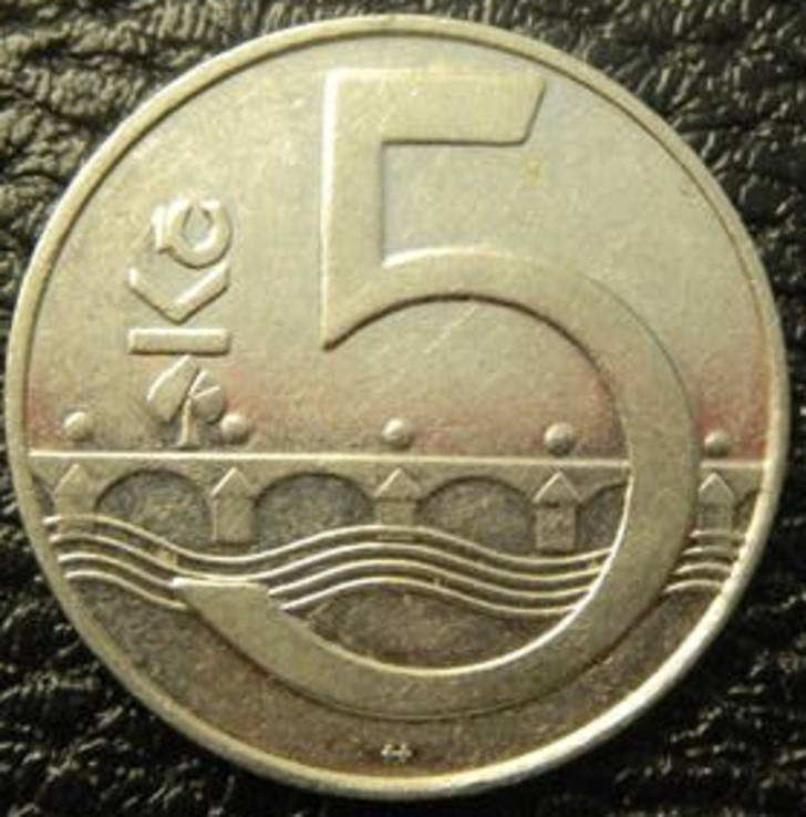 5 крон Чехія 1993, фото №2