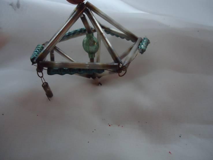 Летающая тарелка стеклярус, фото №2