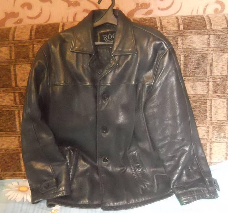Кожаная куртка скотч