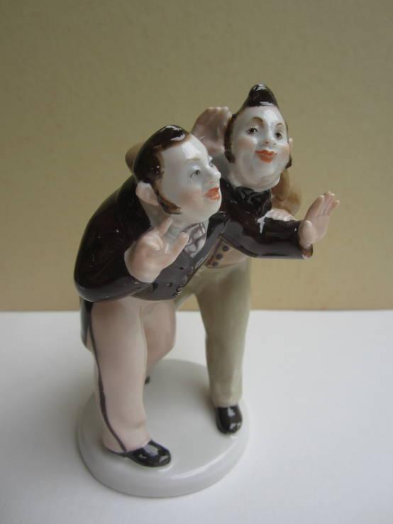 Бобчинский и Добчинский. Фарфор, роспись. СССР, ЛФЗ, 1950-е гг