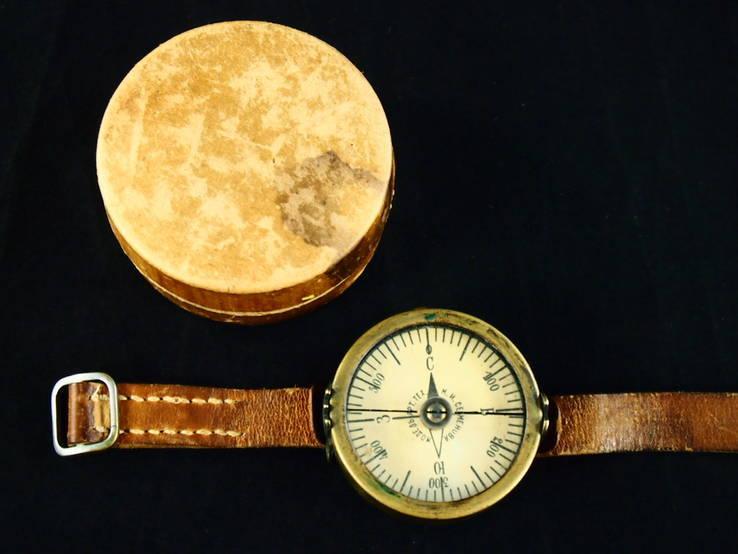 Старинный компас, латунный. Модель. арт. тех. М.И.Семенова.