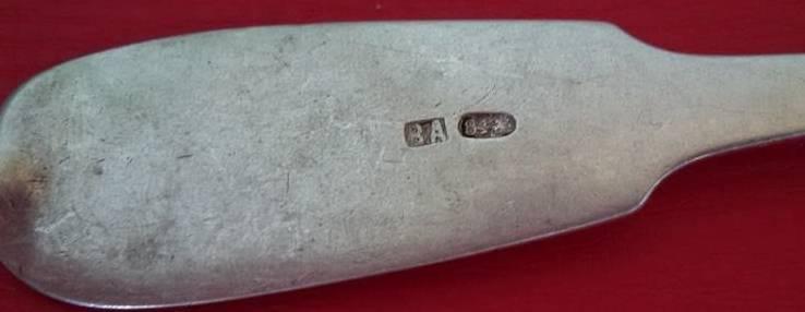 Столовая ложка. Серебро 84 пробы, фото №4