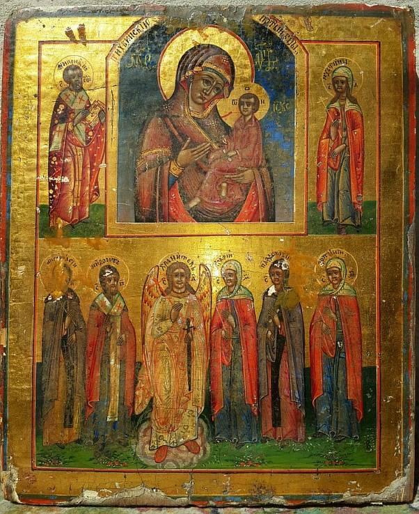 ікона Пресвятої Богородиці ''Тихвінська'' з предстоячими.