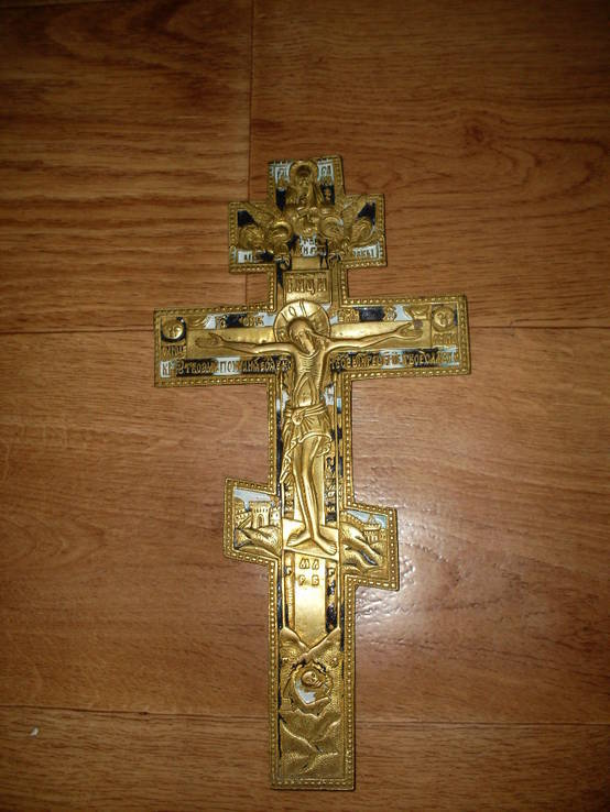Крест (эмали) - 19 век.