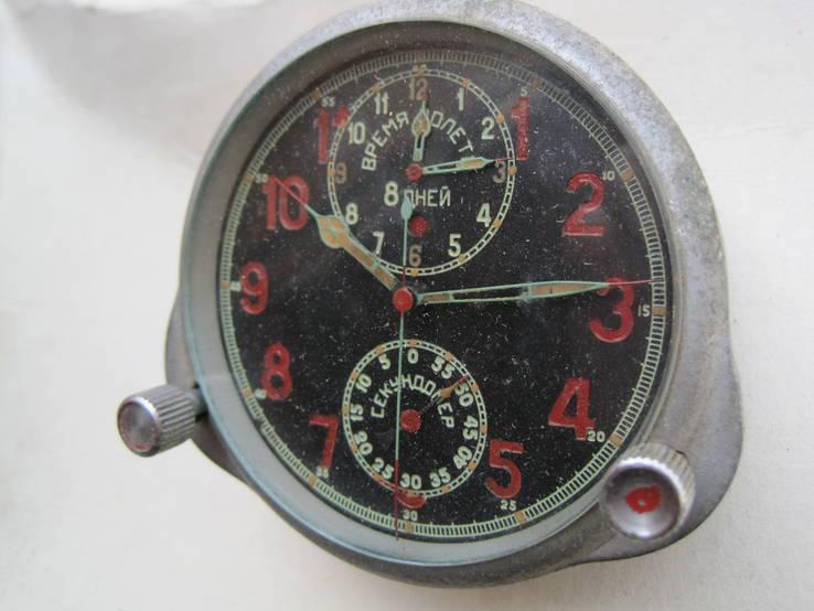 Часы авиационный хронограф 1 Гчз 8 дней 1939 год, фото №3