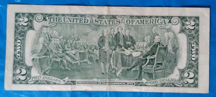 2 доллара США  1995 года, фото №3
