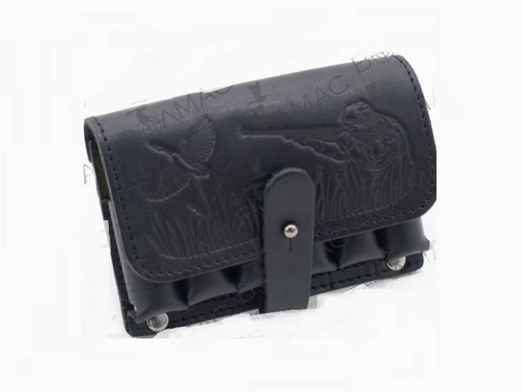 Подсумок для патронов  20 колибр кожаный