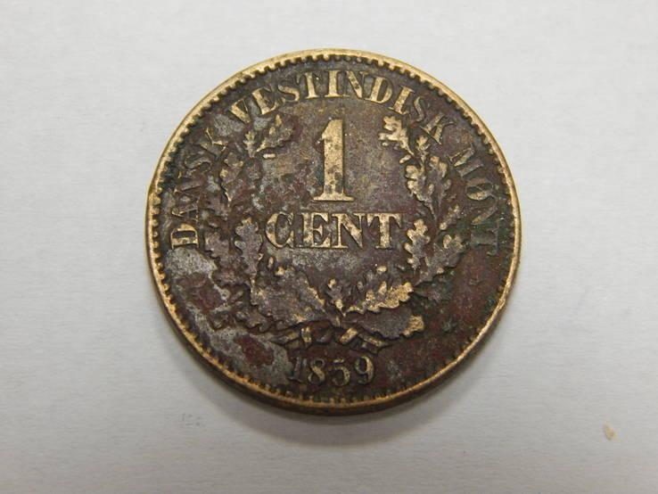 1 цент, 1859 г Датская ВестИндия