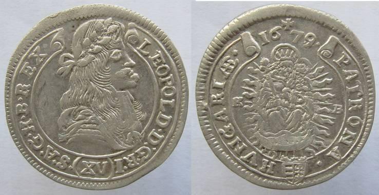 Венгрия Леопольд Габсбург 15 крейцеров 1679