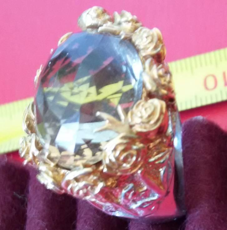 Перстень с натуральным раухтопазом., фото №2