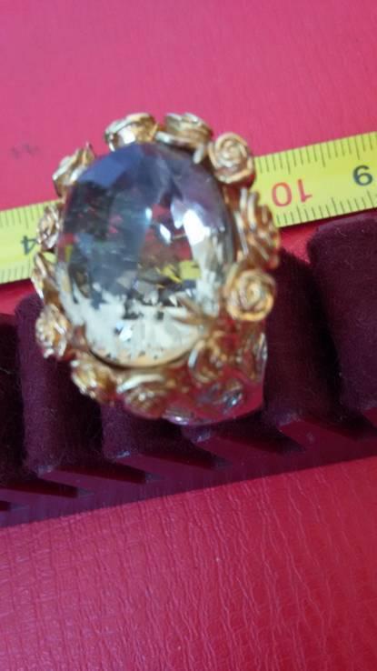Перстень с натуральным раухтопазом., фото №7