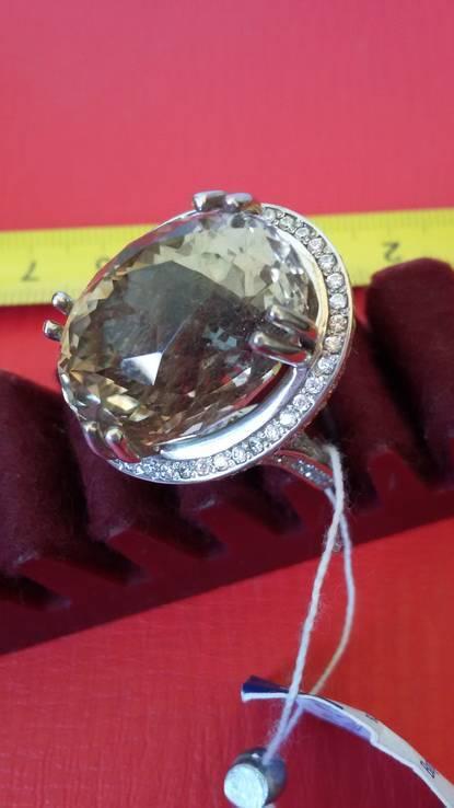 Кольцо с раухтопазом, фото №4