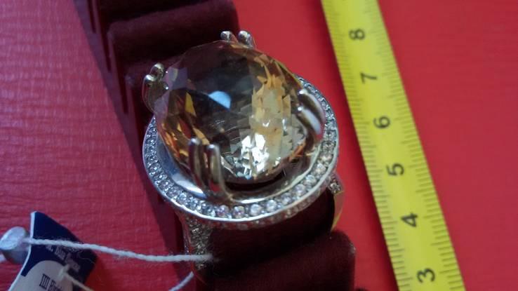 Кольцо с раухтопазом, фото №6